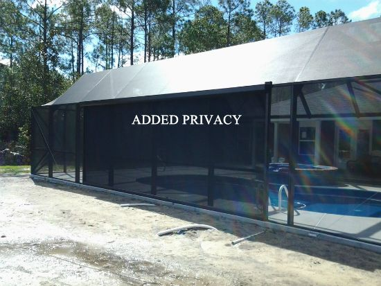 automatic roll down screens by bay aluminum and screen