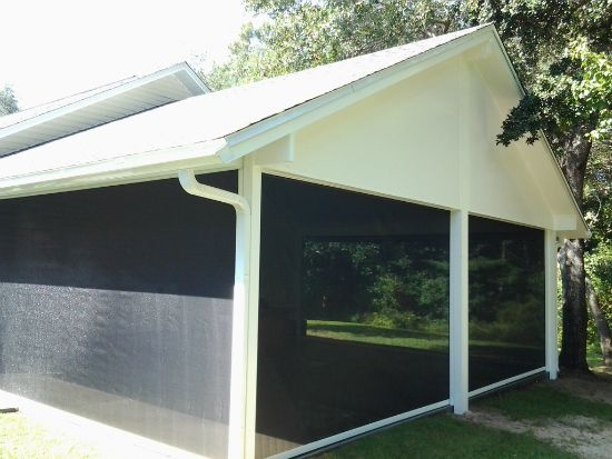 Automatic Roll Down Screens By Bay Aluminum And Screen 850