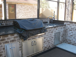 After installation Outdoor Kitchen