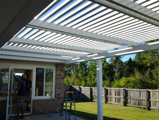 Pergolas bay aluminum and screen 850 473 9755 pensacola fl for Pergola aluminium design