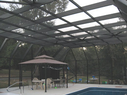 After picture Large Screened Pool Enclosure