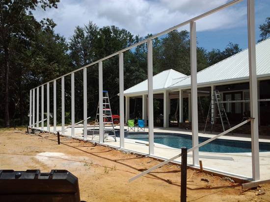 Pool Enclosures Bay Aluminum And Screen 850 473 9755