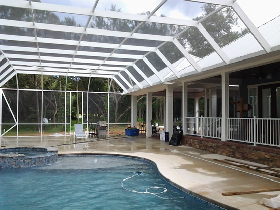 Pool enclosures bay aluminum and screen 850 473 9755 for Pool enclosure design software